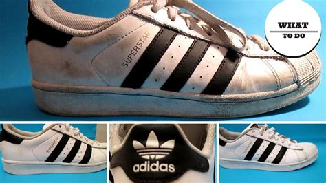 clean adidas superstar white shoes youtube