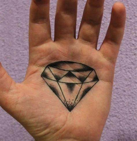 diamond tattoo on hand sparkling designs collections