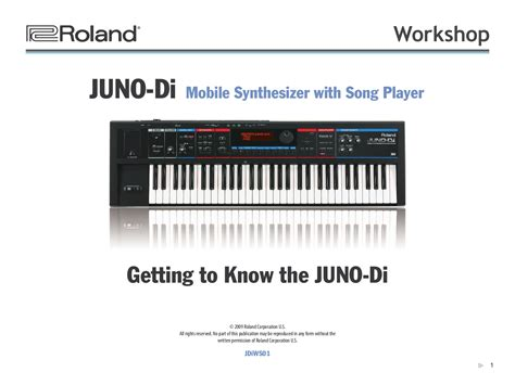 Keyboard Roland Juno Di free pdf for roland juno di keyboard manual