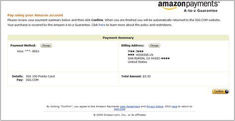 amazon payment igg pay center