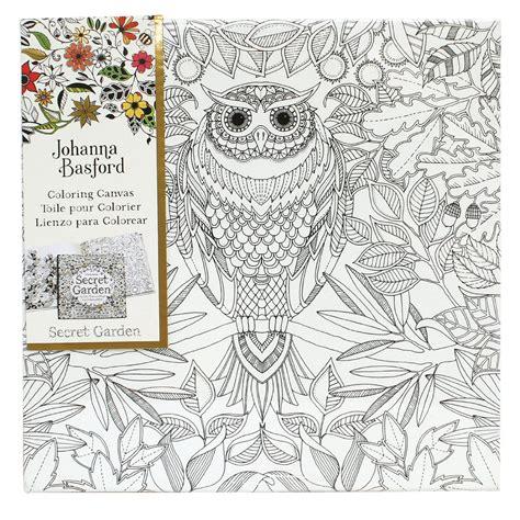 secret garden coloring book australia buy johanna basford canvas 12x12 secret garden owl at