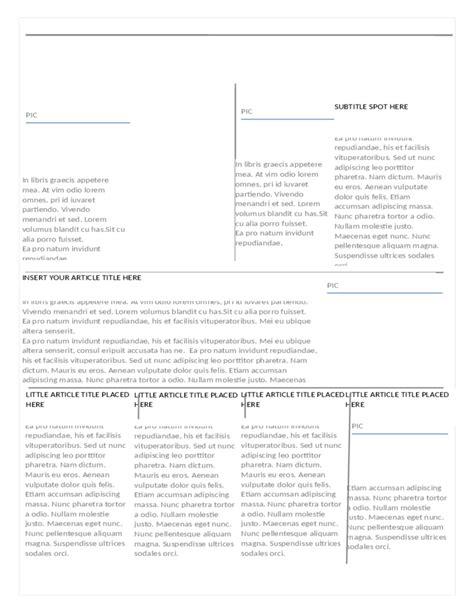 modern newspaper template modern newspaper template free