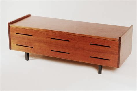 mid century storage bench pin by make haus on accents and pieces pinterest