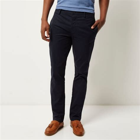 Black Slim Fit Chino navy stretch slim fit chino trousers work sale