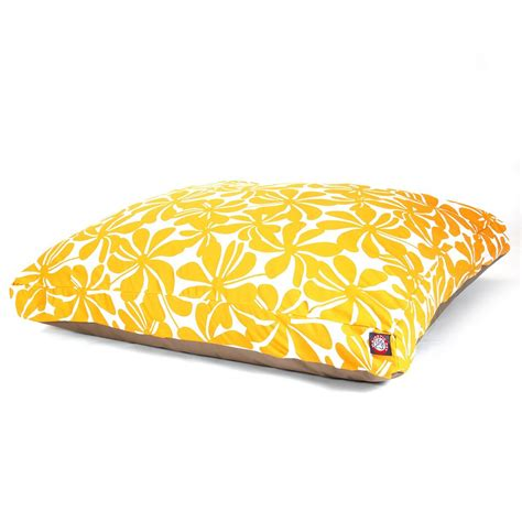 small pet bed yellow plantation small rectangle pet bed
