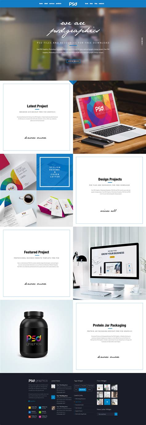 Personal Portfolio Website Template Free Psd Graphics Psd Graphics Professional Portfolio Website Templates