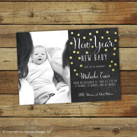 new year of birth new years birth announcement new year new baby chalkboard
