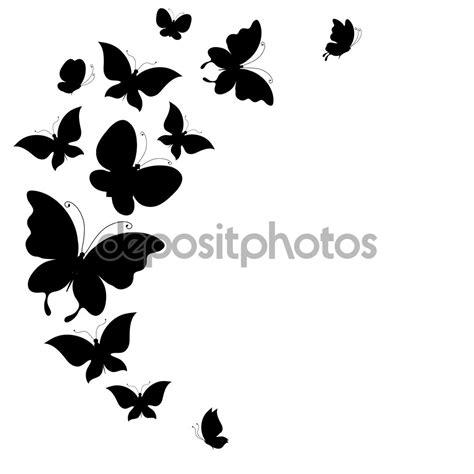 Imagenes Mariposas Siluetas | silueta mariposas volando blanco y negro buscar con