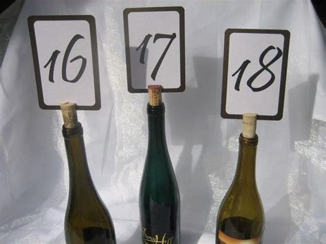 wine cork table numbers 57 best images about wedding decor on