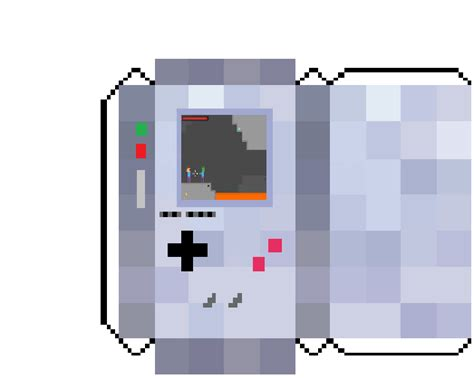 Gameboy Papercraft - papercraft gameboy with minecraft