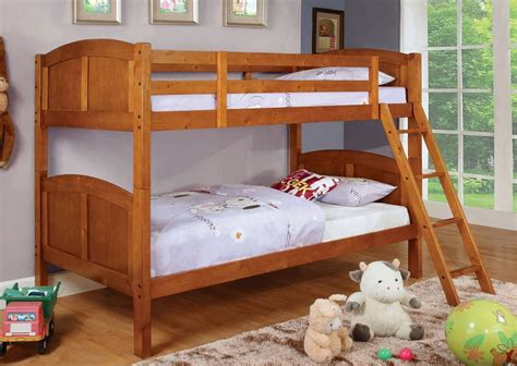 solid wood bunk beds twin over twin twin over twin rexford oak solid wood bunk bed