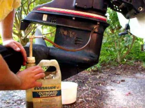 mercury outboard motor oil change how to change an outboards lower unit oil youtube