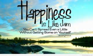 Happiness quote on awesome picture