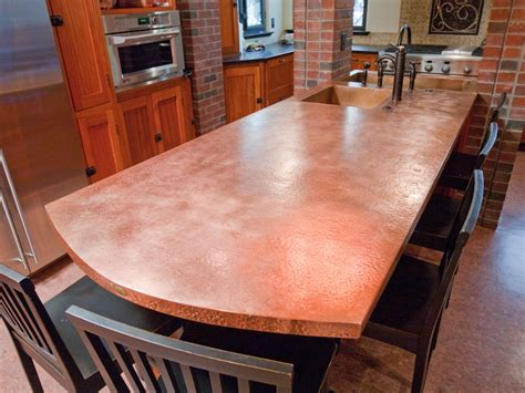 Copper Kitchen Countertops Modern Kitchen Countertops From Materials 30 Ideas