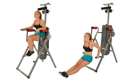 conquer 6 in 1 inversion table power tower home gym up to 12 off on 6 in 1 inversion power tower groupon goods
