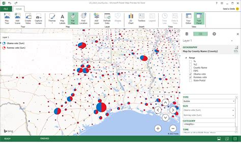 us map charts with excel excel power map 171 how to use mappoint and maptitude