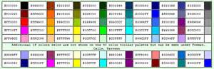 html background color codes color pallette codes bispecialist s