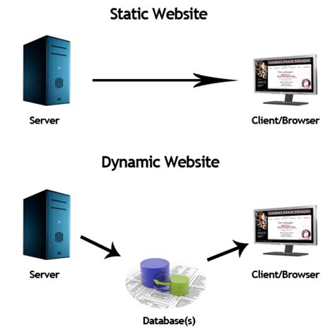 difference between static and dynamic website udeserve