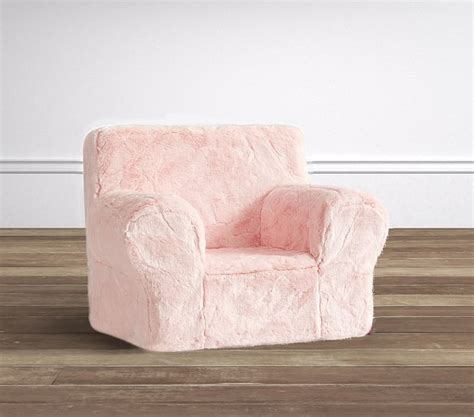 faux fur chair pink pink faux fur anywhere chair 174 pottery barn