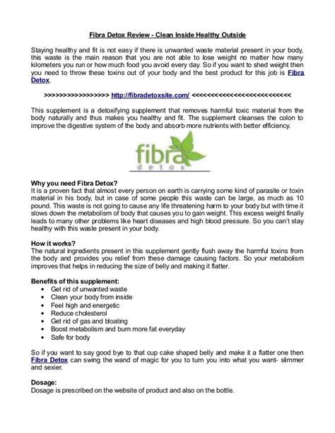 Clean Inside Detox by Fibra Detox Review Clean Inside Healthy Outside