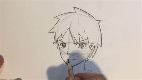 Drawing 3 4 Faces by How To Draw Anime Boy 3 4 View No Timelapse