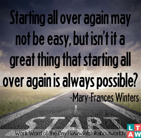 Starting All Again by Starting All Again Quotes Quotesgram
