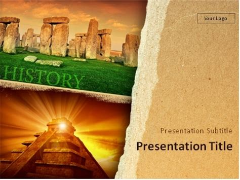 Download Human History Mayan Pyramid And Stonehenge Monuments Powerpoint Template Historical Powerpoint Templates