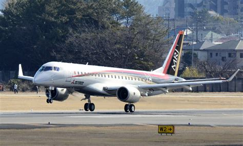 test flights resume for mitsubishi aircraft s mrj the