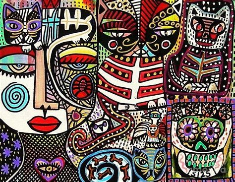 dead cat painting day of the dead cats painting by silberzweig