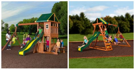 swing set coupons backyard discovery wooden swing set as low as 100 reg