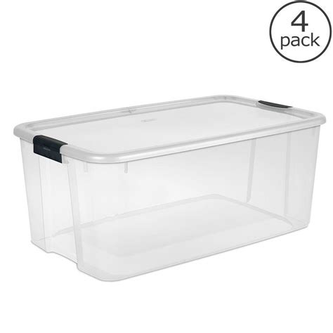 Home Depot Kitchen Furniture sterilite 116 qt ultra storage box 19908604 the home depot