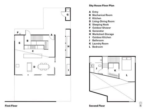 mechanical floor plan sky house floor plan a entry b mechanical room c kitchen d