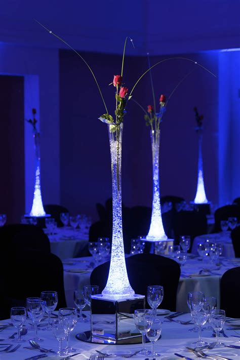 Vase With Light by Water And Candles Centerpieces With Led Lights