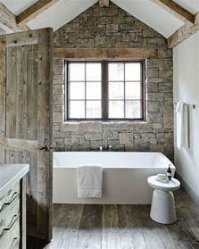 Modern Rustic Decorating Ideas by Stone Used In Bathroom Modern Rustic Bathroom Design