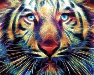 colorful tiger colorful tiger digital colorful tiger print