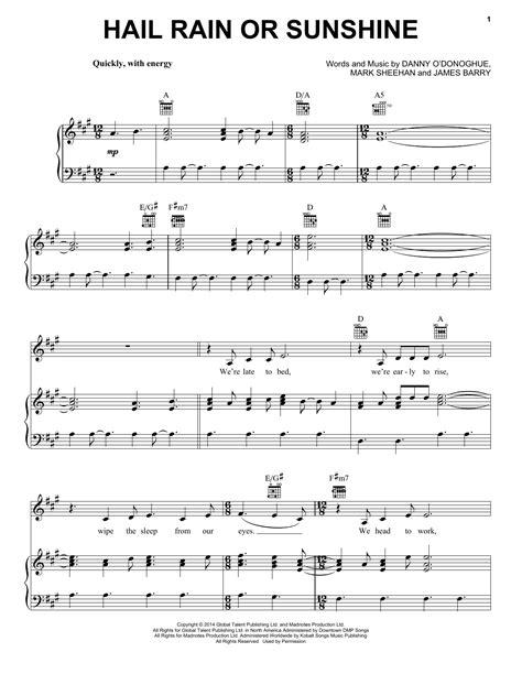 download mp3 gratis the script rain hail rain or sunshine sheet music direct