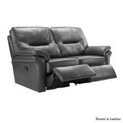 g plan washington 2 seater electric recliner sofa in fabric