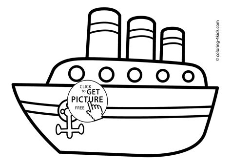 Ship Transportation Coloring Pages Steamship For Kids Transport Coloring Pages