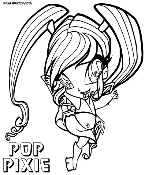Poppixie Coloring Pages Coloring Pages To Download And Print Pop Coloring Pages