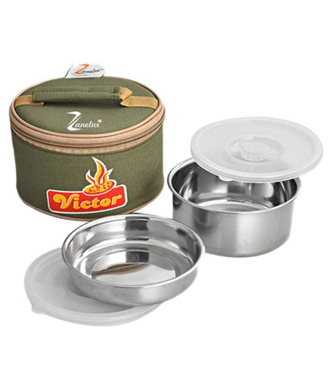 Stainless Lunchbox 1 Susunrantang Bekal zanelux stainless steel lunch box buy at best price in india snapdeal