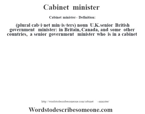 cabinet minister definition cabinet minister meaning