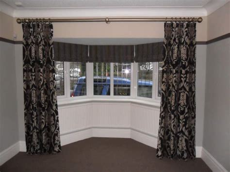 large bay window curtain rods curtain ideas large bay window curtain menzilperde net