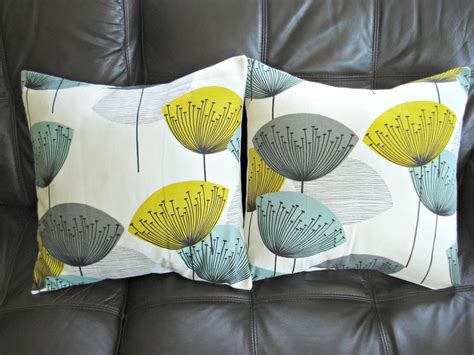 Grey Yellow Pillows by Throw Pillow Yellow Teal Blue Grey Gray Black Dandelion