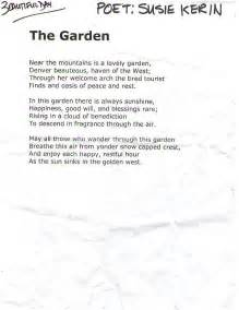 Garden Poems by U2 Poem Read Before Beautiful Day In Denver Larry