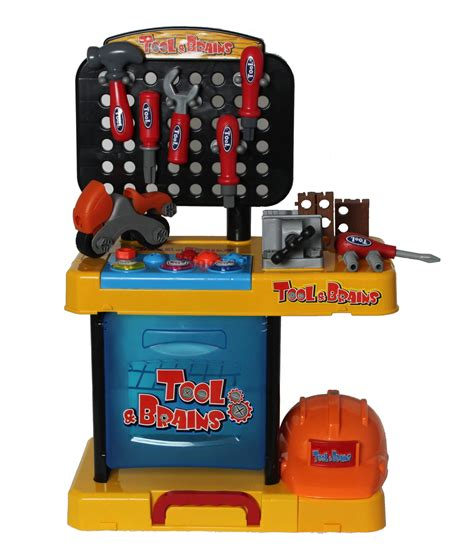 childrens tool bench set children kids boys 47pc tool drill kit work bench set role