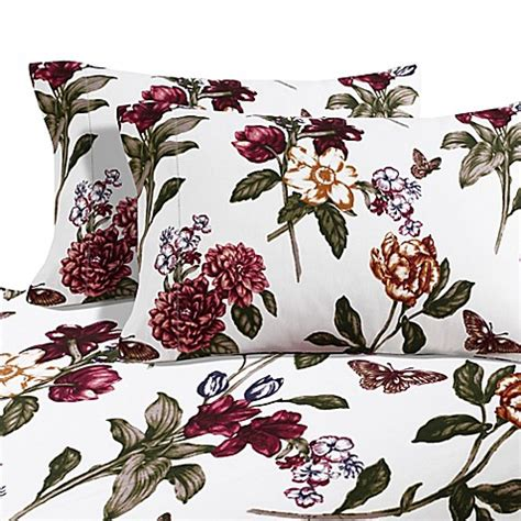 Flanel Set Rumpil 1 buy blossoms print 200 gsm pocket flannel sheet set in pearl burgundy from bed
