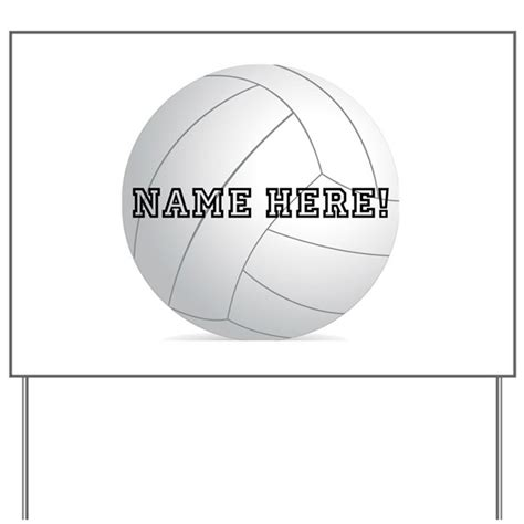 Personalized Volleyball Player Yard Sign By Cutetshirtsgift Football Yard Sign Template