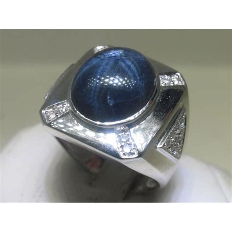 Blue Sapphire Ring V s blue sapphire and 14k white gold ring