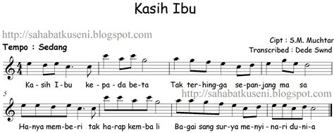 lagu terima kasih guruku lirik acord partitur not balok lagu anak anak indonesia kasih ibu s m