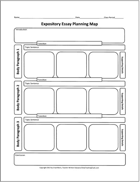 printable essay planning sheet free graphic organizers for teaching writing